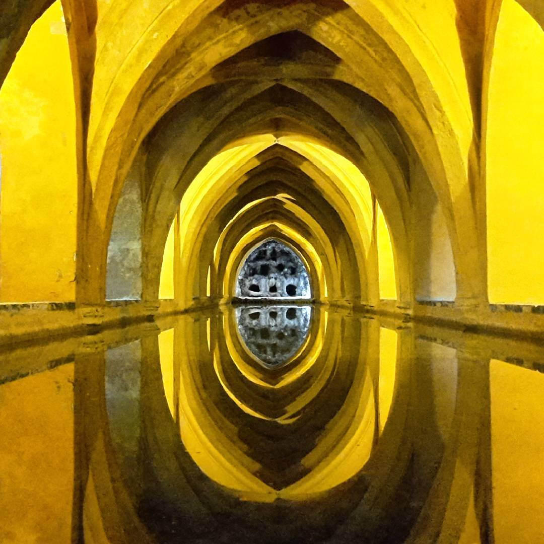 Water reservoir below the Alcazar